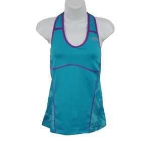 The North Face Teal Purple Racerback Tank Top Sz S